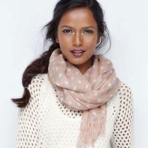 Brand new! Polka dot scarf (blush / rose & white)
